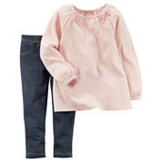 Carter's® 2-pc. Top & Pants Playwear Set - Baby Girls newborn-24m