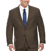 Collection by Michael Strahan Brown Sharkskin Suit Jacket - Big & Tall