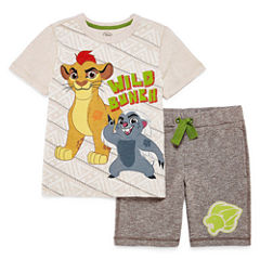 Disney Boys 2-pc. Short Sleeve Short Set