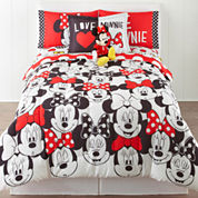 Disney® Minnie Mouse Who Am I Twin/Full Reversible Comforter + BONUS Sham