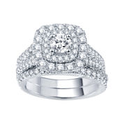 Modern Bride® Signature 2 CT. T.W. Certified Diamond Bridal Set