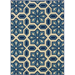 Covington Home Crystal Floral Indoor/Outdoor Rectangular Rug