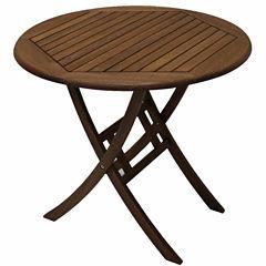 Outdoor Interiors 30 in. Brazilian Eucalyptus Table
