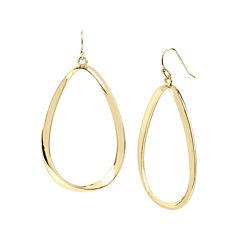 Worthington® Gold-Tone Twist Oval Drop Earrings