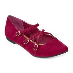 Restricted Allison Pointed-Toe Ballet Flats
