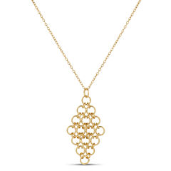 Womens 18K Gold Over Silver Pendant Necklace