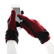 Isotoner® smarTouch Two-Tone Fleece Stretch Gloves