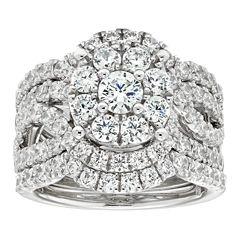 3 ct tw diamond 10k white gold engagement ring - Jcpenney Wedding Rings