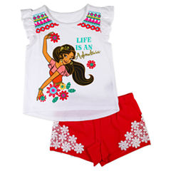 Disney by Okie Dokie 2-pc. Elena of Avalor Short Set Toddler Girls