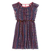 Speechless® Aztec Flutter-Sleeve Chiffon Dress - Girls Plus