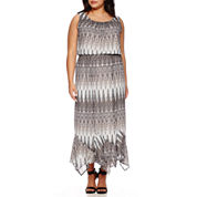 Alyx® Sleeveless Hanky-Hem Dress - Plus