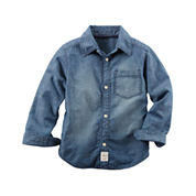 Carter's® Long-Sleeve Denim Woven Chambray Shirt - Boys 4-8