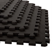 Stalwart 6-pack Black Interlocking EVA Foam Floor Mats