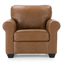 Leather Possibilities Roll-Arm Chair