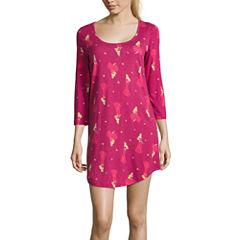 Disney Disney Wondrous Jersey 3/4 Sleeve Scoop Neck Nightshirt