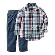 Carter's® 2-pc. Navy Shirt and Pants Set - Toddler Boys 2t-5t
