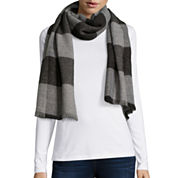 V. Fraas Box Check Oversized Scarf