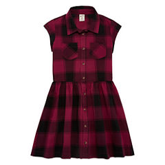 Arizona Buffalo Plaid Shirt Dress - Girls' 7-16 & Plus