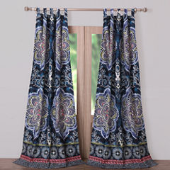 Barefoot Bungalow Twyla (Midnight) Tab-Top Curtain Panel