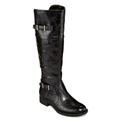 Yuu™ Rocio Womens Double-Buckle Riding Boots