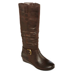Yuu™ Simona Wedge Buckled Womens Boots