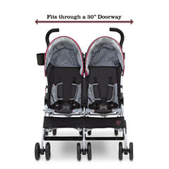 Delta Children J is for Jeep Brand Scout Double Stroller Burgundy
