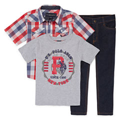 Us Polo Assn. 3-pc. Pant Set