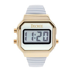 Decree® Womens Stainless Steel Digital Expansion Bracelet Watch