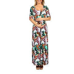 24/7 Comfort Apparel Destination Rio Maxi Dress-Plus Maternity
