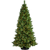 7½' Pre-Lit Sheridan Pine Cashmere-Style Clear Lights Christmas Tree