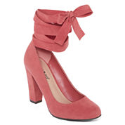 Bamboo Amuse Ankle Wrap Pump