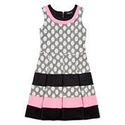 Trixxi® Sleeveless Polka Dot Striped Skater Dress - Girls 7-16