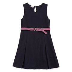 IZOD® Sleeveless Belted Knit Dress - Girls 7-16 and Plus