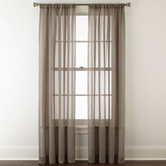 JCPenney Home™ Quentin Rod-Pocket Sheer Curtain Panel