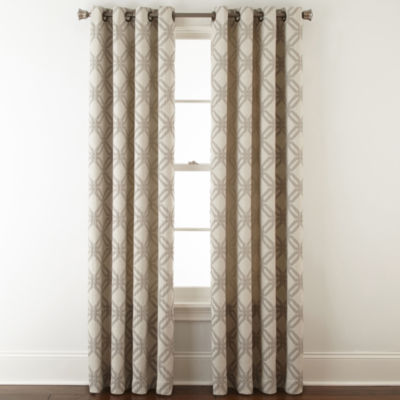 jcpenney home teagan grommettop curtain panel