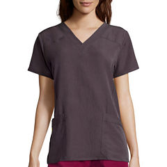 WonderWink® Womens Short-Sleeve Sporty V-Neck Top