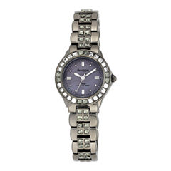 Armitron® Now® Womens Gray Crystal Watch