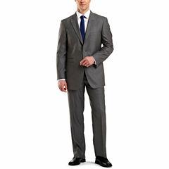 JF J. Ferrar® Gray Sharkskin Suit Separates - Big & Tall