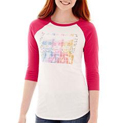 Modern Lux Raglan-Sleeve Barbie Sequin Graphic T-Shirt