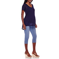 Maternity Short-Sleeve Burnout Tee or Crop Pants