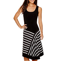 Msk Sleeveless Fit & Flare Dress