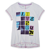 Reebok® Short-Sleeve Live 2 Run Tee - Girls