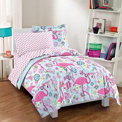 Dream Factory Flamingo Comforter Set
