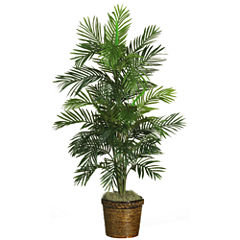 Nearly Natural 4.5-ft. Areca Palm Silk Tree with Basket