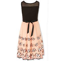 Speechless Sleeveless Dress with Butterfly Border - Girls' 7-16
