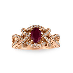 Le Vian Womens 3/8 CT. T.W. Red Ruby 14K Gold Cocktail Ring