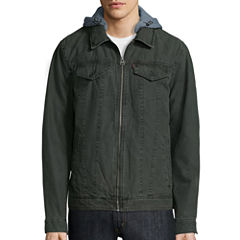 Levi's® Hooded Cotton Trucker Jacket