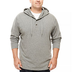 The Foundry Supply Co.™ Long-Sleeve Henley Pullover Hoodie - Big & Tall