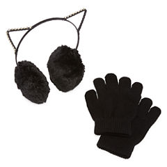 Capelli of N.Y. KIitty Ear Muffs and Gloves-Big Kid Girls