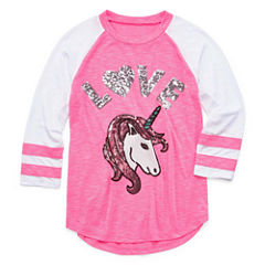 Total Girl Sequin Varsity Top - Girls' 7-16 and Plus
